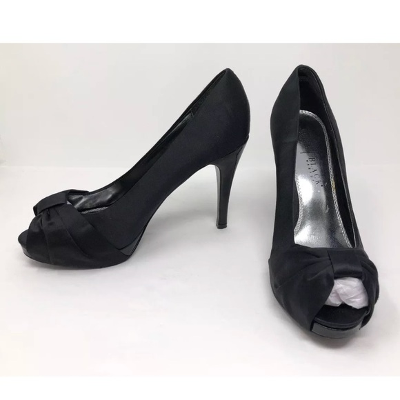 b675e528b3 White House Black Market Shoes | Bhwm Satin Leather Heels | Poshmark